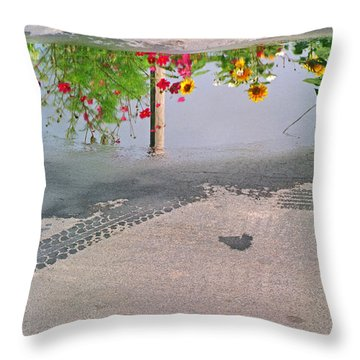 Urban Contrails Throw Pillow