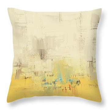 Throw Pillow featuring the mixed media Urban Decay by Eduardo Tavares