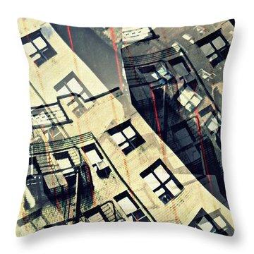 Urban Distress Throw Pillow by Sarah Loft