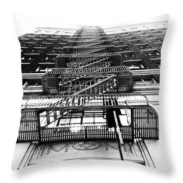 Urban Egress Throw Pillow