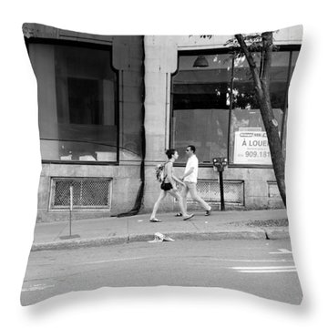 Throw Pillow featuring the photograph Urban Encounter by Valentino Visentini