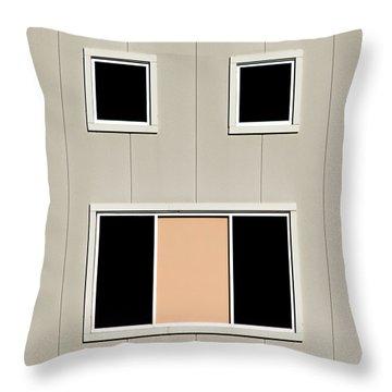 Urban Face Throw Pillow