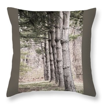 Urban Forestry Throw Pillow