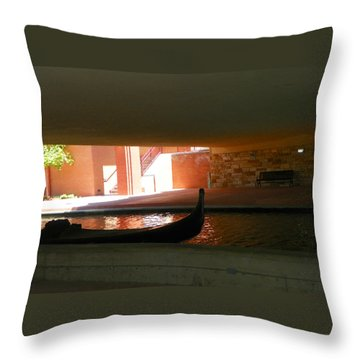 Urban Gondola Throw Pillow by Lenore Senior