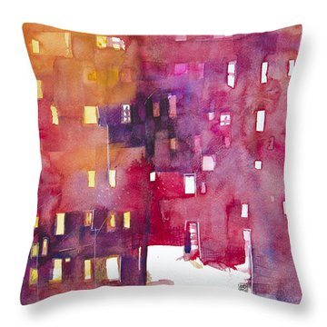 Urban Landscape 3 Throw Pillow by Alessandro Andreuccetti