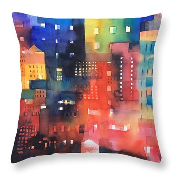 urban landscape 8 - Shadows and lights Throw Pillow by Alessandro Andreuccetti