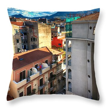 Urban Landscape In Palermo Throw Pillow