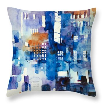 Urban Landscape No.1 Throw Pillow by Alessandro Andreuccetti