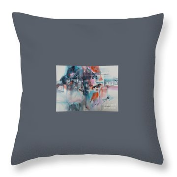 Urban Layers Throw Pillow
