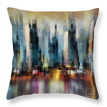 Urban Morning Throw Pillow