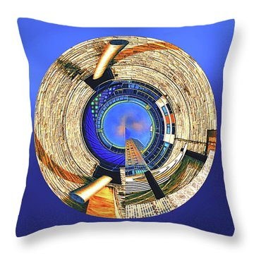 Throw Pillow featuring the digital art Urban Order by Wendy J St Christopher