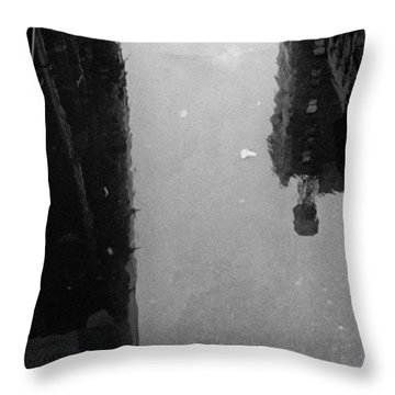 Urban Puddle Throw Pillow by Dave Beckerman