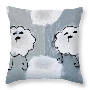 Throw Pillow featuring the photograph Urban Rain Clouds by Art Block Collections