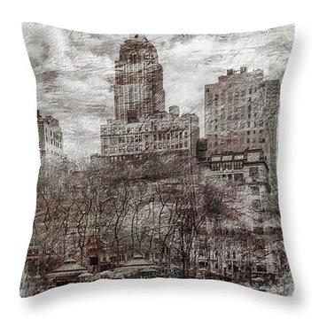 Urban Rush Throw Pillow