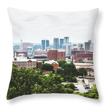 Throw Pillow featuring the photograph Urban Scenes In Birmingham  by Shelby Young