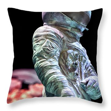 Urban Spaceman Throw Pillow