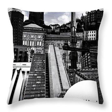 Urban Stockholm Throw Pillow