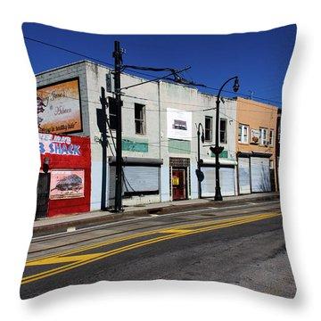 Urban Street Life Throw Pillow