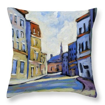 Urban Streets Throw Pillow by Richard T Pranke