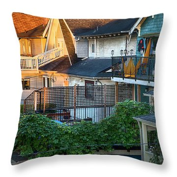 Throw Pillow featuring the photograph Urban Vancouver by Theresa Tahara