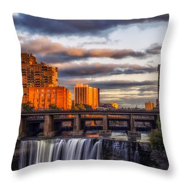 Urban Waterfall Throw Pillow