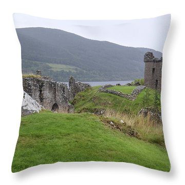 Urquhart Castle - Drumnadrochit Throw Pillow