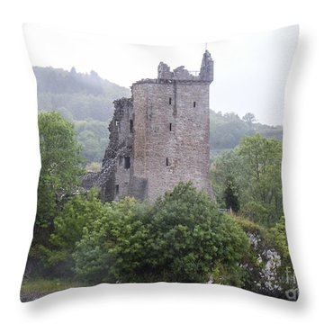 Urquhart Castle - Grant Tower Throw Pillow