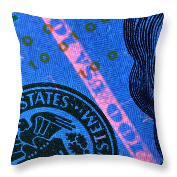Us 100 Dollar Bill Security Features, 2 Throw Pillow