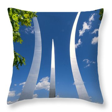 U.s. Air Force Memorial Throw Pillow