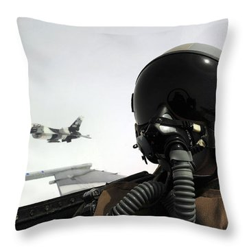 U.s. Air Force Pilot Takes Throw Pillow by Stocktrek Images