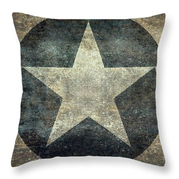 Us Air Force Roundel With Star Throw Pillow