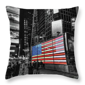 U.s. Armed Forces Times Square Recruiting Station Throw Pillow