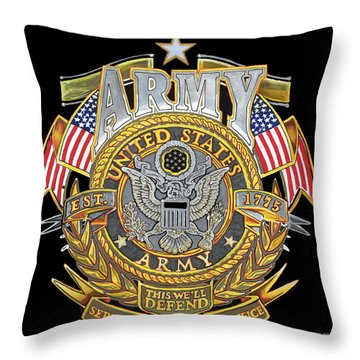 Us Army Throw Pillow by Bill Richards