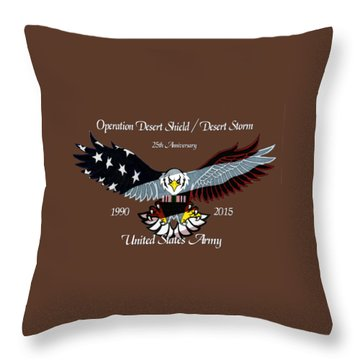 Us Army Desert Storm Throw Pillow by Bill Richards
