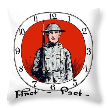 Us Army First Division - Ww1 Throw Pillow
