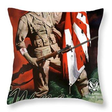 Us Army -- World War Two Propaganda Throw Pillow