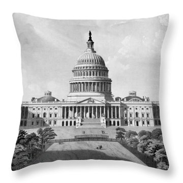 Us Capitol Building Throw Pillow by War Is Hell Store