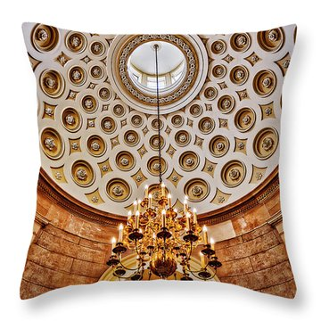 Throw Pillow featuring the photograph Us Capitol Rotunda Washington Dc by Susan Candelario