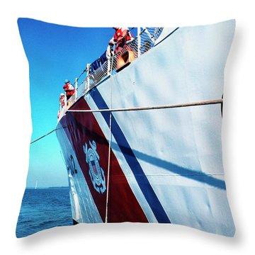 Us Coast Guard  Throw Pillow by Thomas R Fletcher