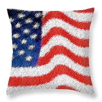 U.s. Flag Throw Pillow