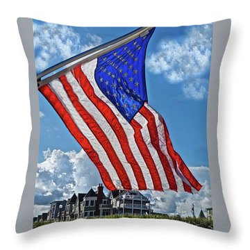 Us Flag,ocean Grove,nj Flag Throw Pillow