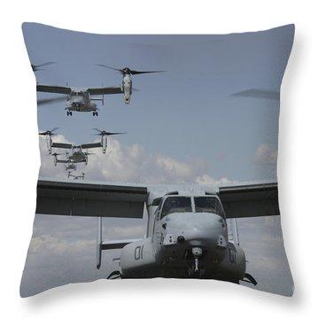 U.s. Marine Corps Mv-22 Osprey Throw Pillow