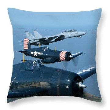 Us Navy Lagacy Flight  Throw Pillow by John Clark