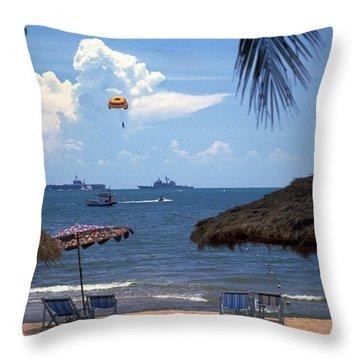 Us Navy Off Pattaya Throw Pillow