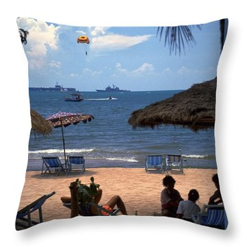 Us Navy Off Pattaya Throw Pillow