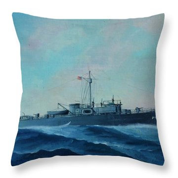 Us Navy Ship Pc577 Throw Pillow