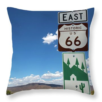 Us Route 66 Sign Arizona Throw Pillow