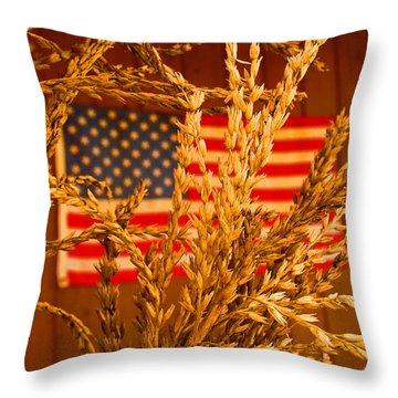 U.s. Wheat Throw Pillow