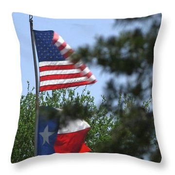 Usa Blesses Texas Throw Pillow