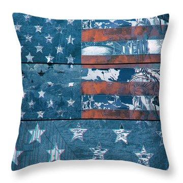 Usa Flag 8 Throw Pillow